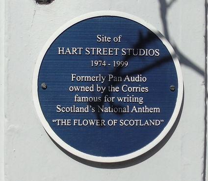 Hart Street Studios Plaque Broughton Edi