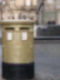 Hunter Square Royal Mile Edinburgh Gold Post Box