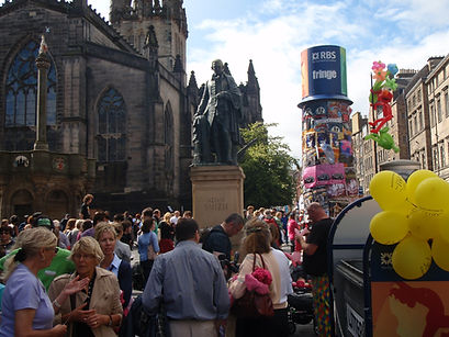 High Street Edinburgh Festival August An