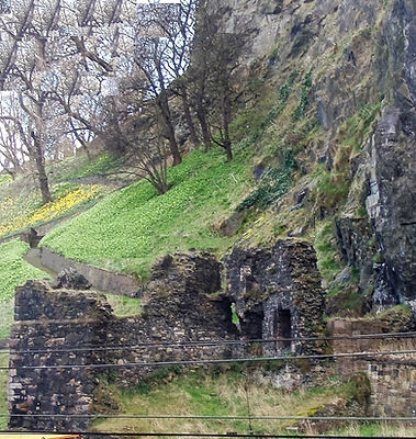 Edinburgh castle wellhouse princes street gardens edinburgh