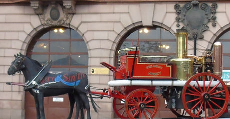 Old Horse Drawn Fire Truck Edinburgh