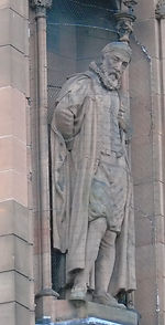 statue of John Napier scottish national portrait gallery queen street edinburgh