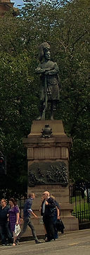 Black watch Statue on the Mound Edinburgh