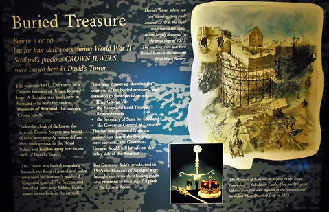 Edinburgh Castle Buried Treasure David's Tower Plaque _ E