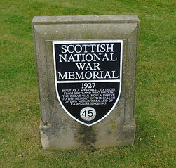 Scottish National War Memorial Plaque Stone Edinburgh Castle