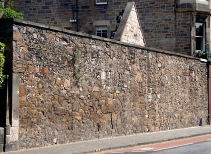 Town Wall Tablet Bristo Edinburgh Floddeanding Wall