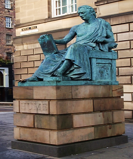 David Hume Statue High Street Edinburgh
