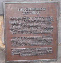 Nether Bow Wellhead Plaque, High Street
