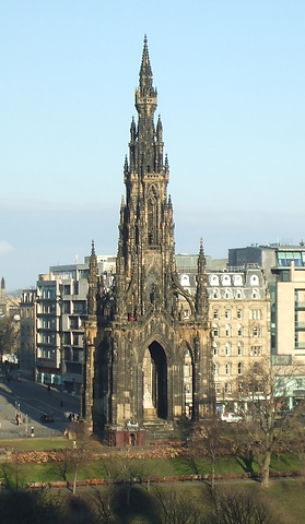 Walter Scotto Monument Princes Street Edinburgh