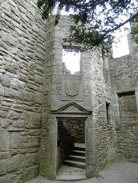 Craigmillar Castle internal door and steps Edinburgh