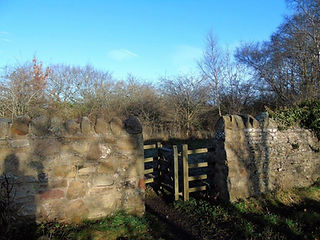 Entrance to Gothic House Ruins Haddington East Lothian