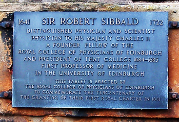 Greyfriars Graveyard Robert Sibbald Plaque