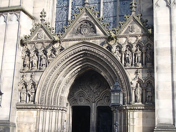 allaboutedinburgh royal mile high street Saint Gile's Cathedral doorway