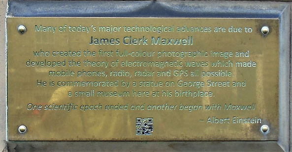 James Clerk Maxwell brass Plaque Edinbur