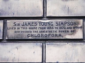 james young simpson plaque Queen Street edinburgh