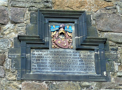 Sir William Kirkcaldy of Grange Plaque Edinburgh Castle