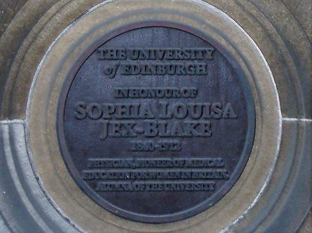 Sophia Jex Blake Medical School Plaque