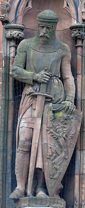 statue of Sir William Wallace scottish national portrait gallery queen street edinburgh