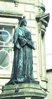 Statue of Queen Victoria Leith Edinburgh