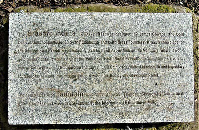 Iron Founders Column Plaque Nicolson Square Gardens