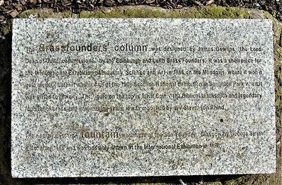 Iron Founders Column Plaque Nicolson Square Gardens