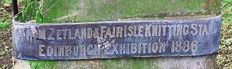 Jaw Bone Presentation Band 1886 Zetland and Fair Isle