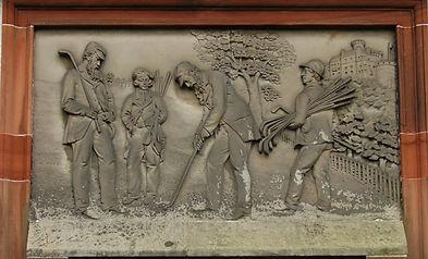 Royal Burgess Plaque Golfers at Bruntsfild Links Edinburgh 1735