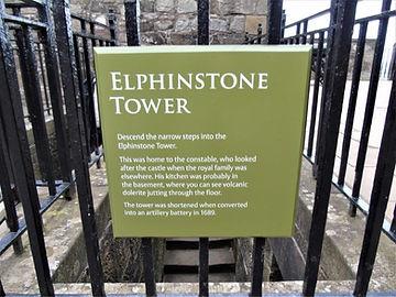 Stirling Castle Elphinstone Tower Plaque