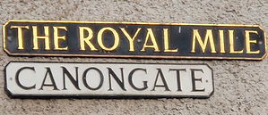 Canongate Royal Mile Sign Edinburgh