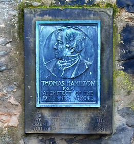 Thomas Hamilton memorial plaque Old Calt