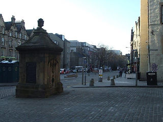 West Bow Wellhead looking down the Grassmarket Edinburgh.