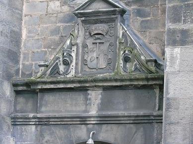 Magdalen Chapel lintel above entrance
