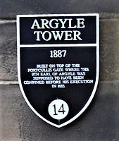 Argyle Tower Plaque _ Edinburgh Castle