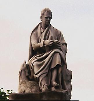 Statue of Walter Scott in the Scott Monument