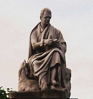 Statue of Walter Scott in the Scott Monument
