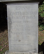 Stair's Obelisk Inscription, Newhailes House woods, Musselburgh East Lothian