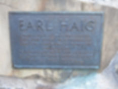 Earl Haig Plaque Edinburgh Castle