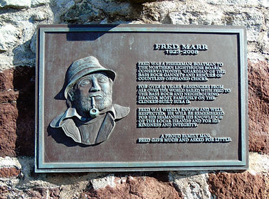 Fred Marr Plaque North Berwick East Lothian