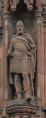 statues of King Malcolm III scottish national portrait gallery queen street edinburgh