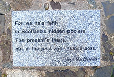 Hugh MacDiarmid Stone Democracy Cairn Calton Hill Edinburgh