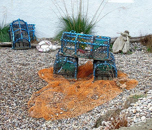 Fishing nets and lobstor pots Fisherrow MusselburghJPG