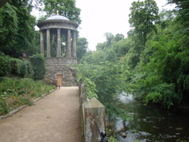 Water of Leith Walkway from Saunders Street at The Dene Archway to St Bernard's Well