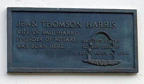 Jean Thomson Harris Plaque. Cumberland S