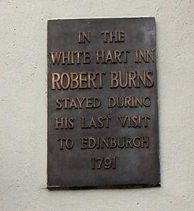 White Hart Inn Grassmarket Last place Robert Burns Stayed in Edinburgh