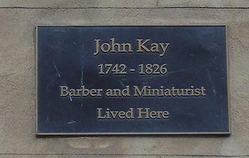 John kay Plaque. Geddes's Entry High Str