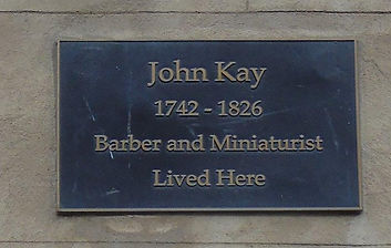 John kay Plaque. Geddes's Entry High Str