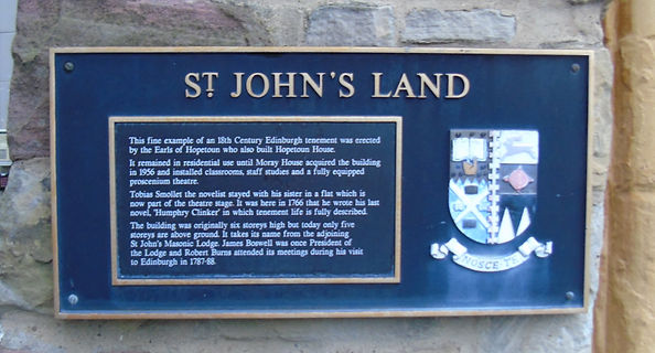 St John's Land Plaque, Edinburgh