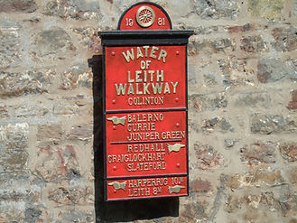 Water of Leith signpost Colinton Village