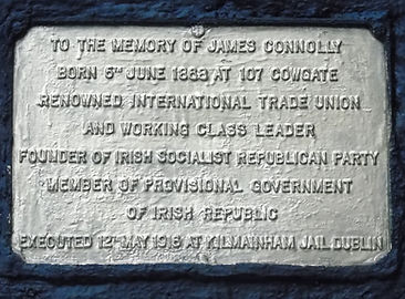 Plaque of where James Connolly was born 1888