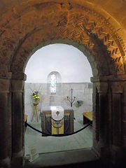St Margarets Chapel interior Edinburgh Castle.JPG